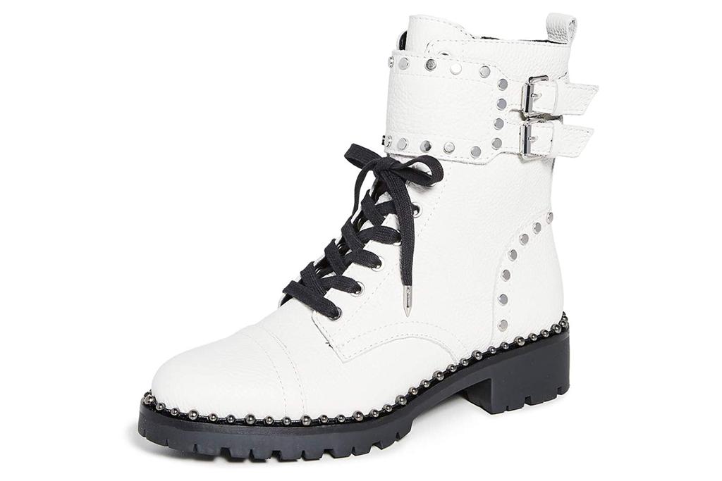sam edelman, combat boots, white