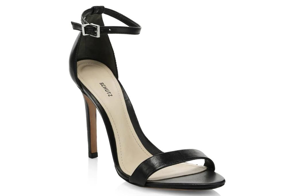 schutz, black sandals, heels
