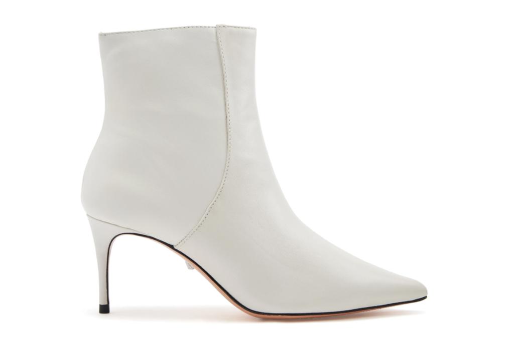 schutz, white, heel, bootie