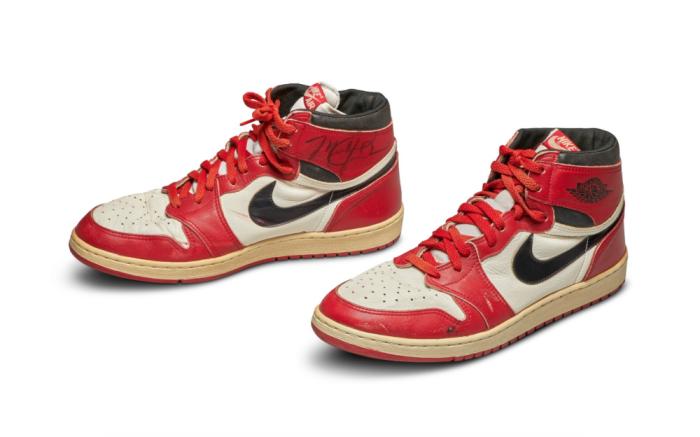 Sotheby's, Michael Jordan's Game Worn 1985 Player Sample Air Jordan 1s | Sizes 13, 13.5