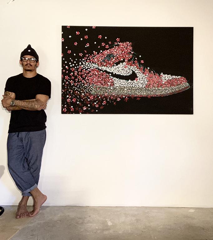 shane ward air jordan 1 painting