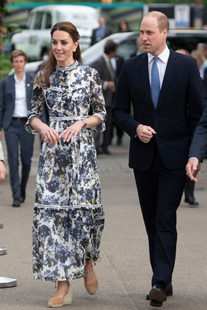 Kate Middleton wearing Erdem at the Chelsea Flower Show in 2019.