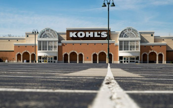 An empty parking outside a closed Kohl's store is shown in Indianapolis, . More than 6.6 million Americans applied for unemployment benefits the week of March 23, far exceeding a record high set just last week, a sign that layoffs are accelerating in the midst of the coronavirusVirus Outbreak Unemployment Overload, Indianapolis, United States - 02 Apr 2020
