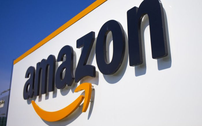 "The Amazon logo is seen in Amazon, in Douai, northern France, . Amazon has decided to suspend ""temporarily"" all activity in France, one day after a French court found it wasn't doing enough to protect its workers amid the virus crisis in the country. The online giant, which has six warehouses in France, said in a statement Wednesday that ""this week, we are requesting employees of our distribution centers to stay at home. On the longer term, we will evaluate the impact of that (justice) decision for them and our French logistic networkVirus Outbreak Amazon, Douai, France - 16 Apr 2020"