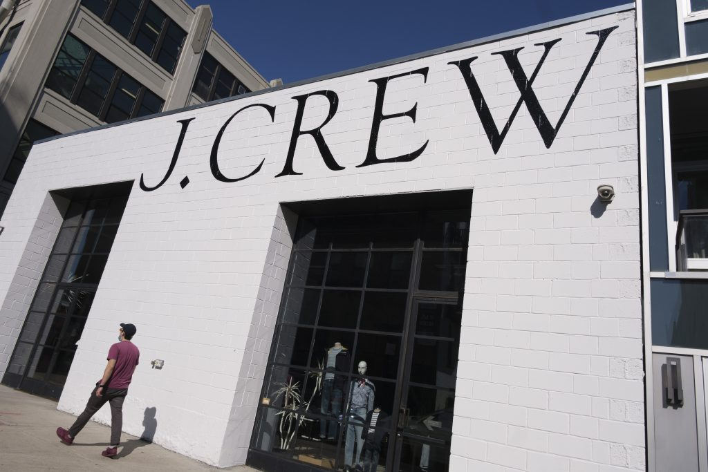 A view of a closed J. Crew clothing store in Brooklyn, New York, USA, 04 May 2020. The parent company of J. Crew, Chinos Holdings, announced on 04 May that it was filing for bankruptcy protection, making it one of the first large retailers to do so since the imposition of restrictions requiring the shut down of all non-essential businesses, to stop the spread of the highly-contagious coronavirus. These restrictions are having massive economic implications and some local and federal politicians are beginning to suggest plans for lifting some rules in an effort to get parts of the economy going again; many health officials are worried this will lead to another spike in COVID-19 cases.New York Coronavirus Economy - J. Crew file for bankruptcy, Brooklyn, USA - 04 May 2020