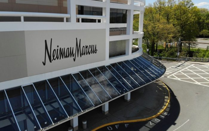 Closed Neiman Marcus store is seen at the Garden State Plaza mall in Paramus, N.J., . Neiman Marcus filed for Chapter 11 bankruptcy protection, sounding an ominous note for department stores during the pandemicVirus Outbreak Nieman Marcus Bankruptcy, Paramus, United States - 07 May 2020