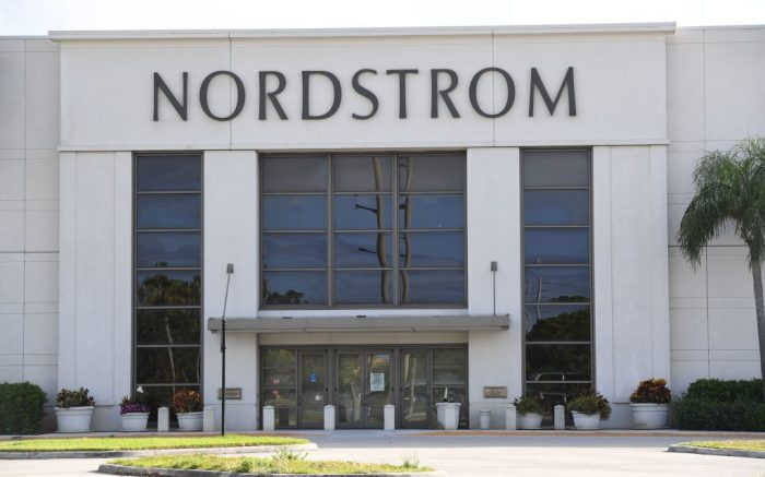Nordstrom is closing 16 of its stores permanently due to the Coronavirus COVID-19 pandemic, Boca Raton, FloridaCovid-19 coronavirus outbreak, Florida, USA - 11 May 2020