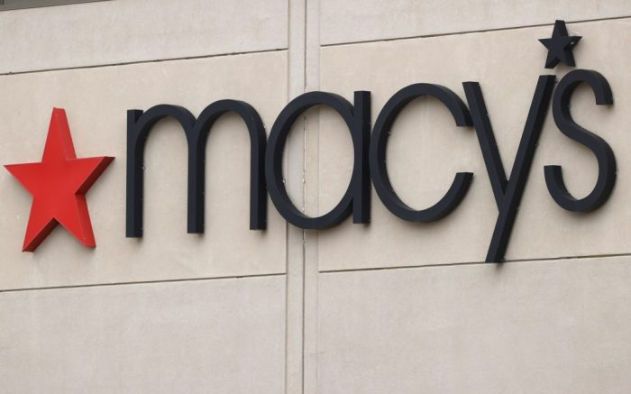 The company sign hangs outside a Macy's department store at Flatiron Crossing mall, in Broomfield, ColoMacys, Broomfield, United States - 14 May 2020