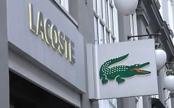 Lacoste storefront and sign Copenhagen, Denmark