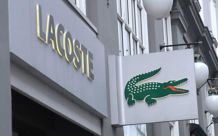 Lacoste storefront and sign Copenhagen, Denmark - 2012