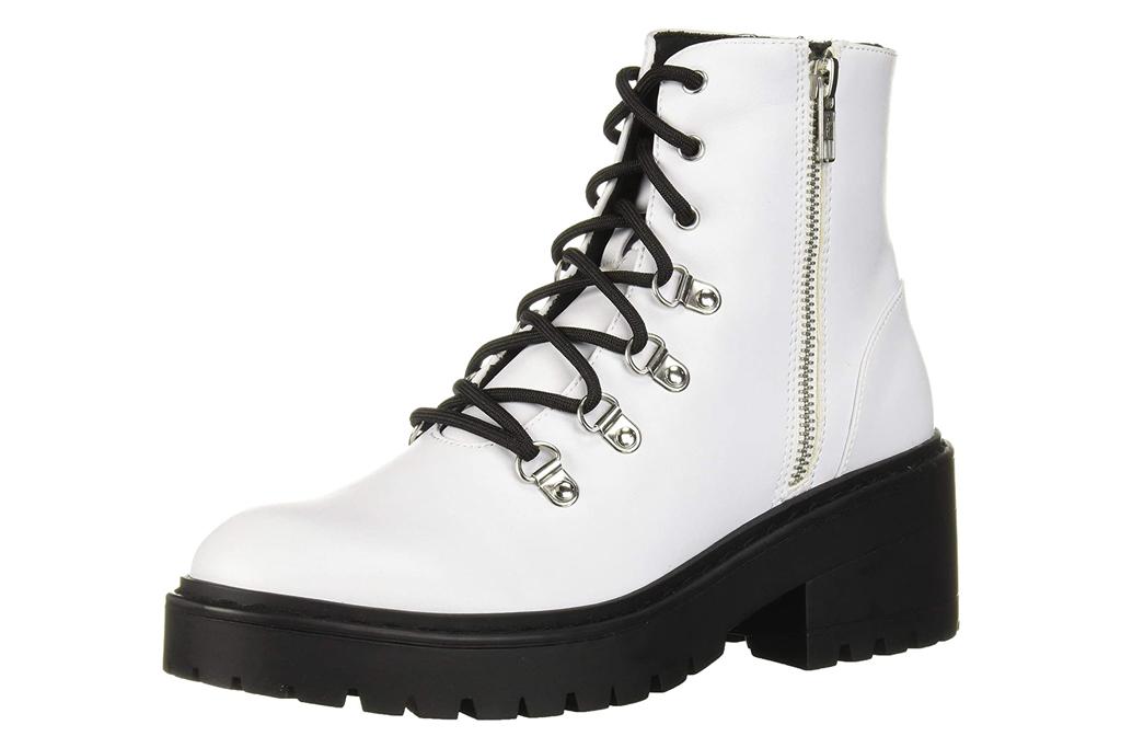 skechers, combat boots, white