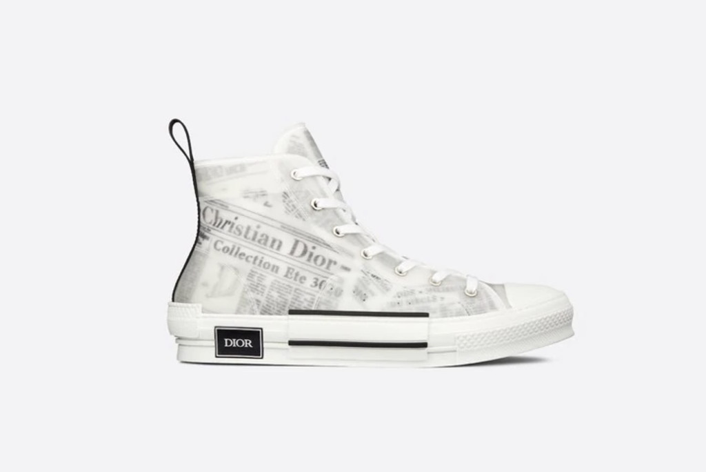 best dior sneakers, Dior B23 High-Top Sneaker in White Canvas with Dior and Daniel Arsham Motif, dior sneaker, designer sneakers