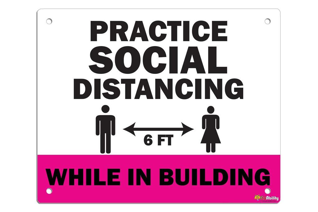 social distancing, sign