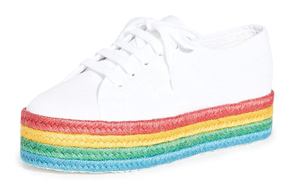 superga, sneakers, rainbow