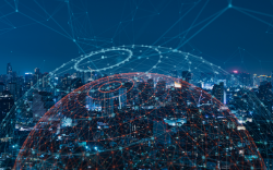 Supply chain data network graphic