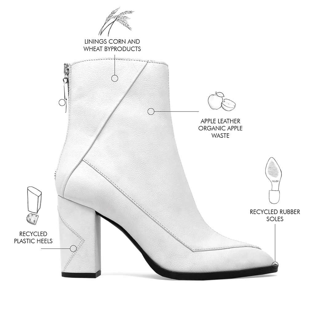 sylven new york, sustainable shoes, apple leather boots