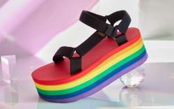 teva, pride, sandals, rainbow, stripes, platform