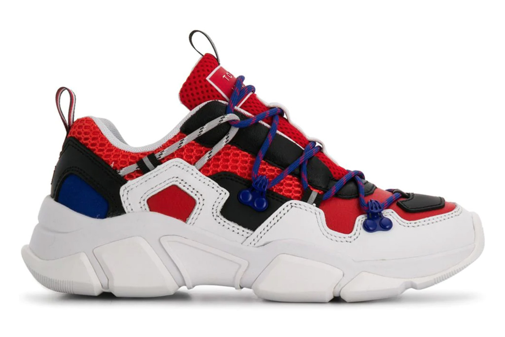 tommy hilfiger, sneakers, red, blue, white