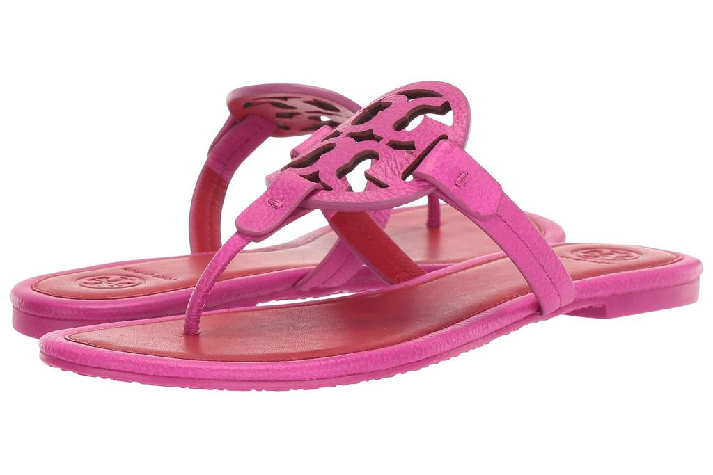 tory burch, pink flip flops