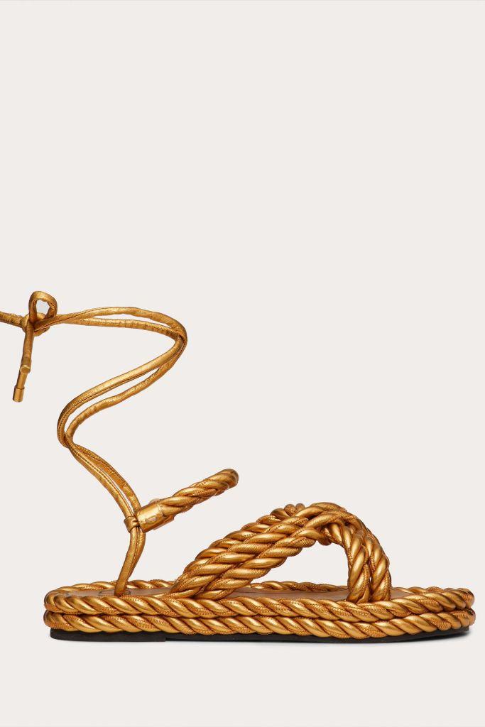 valentino, rope sandals, valentino sandals