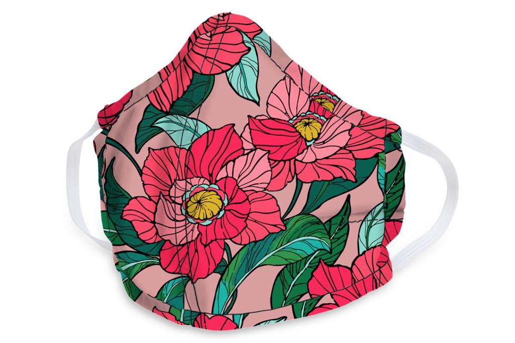 vera bradley, face mask, floral