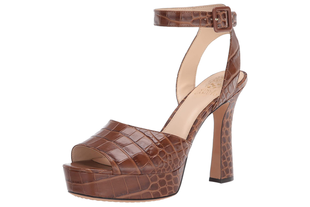 Vince Camuto, brown platform sandals