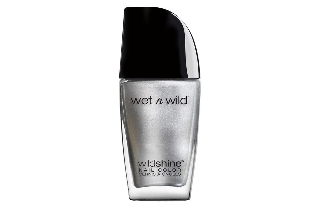 wet n' wild, nail polish, silver, chrome