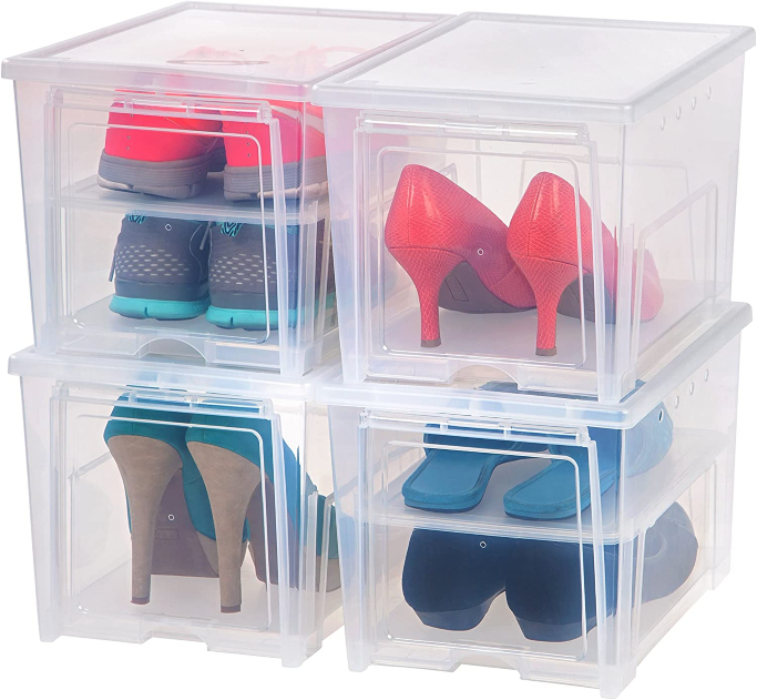 iris usa inc drop front shoe boxes