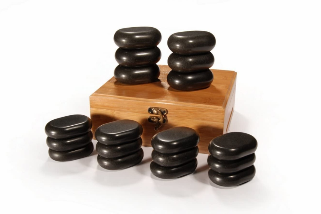 Master Massage 18 Pieces Mini Body Massage Hot Stone Set