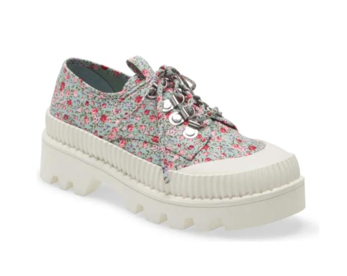 floral sneakers, Jeffrey Campbell B2School Platform Sneaker