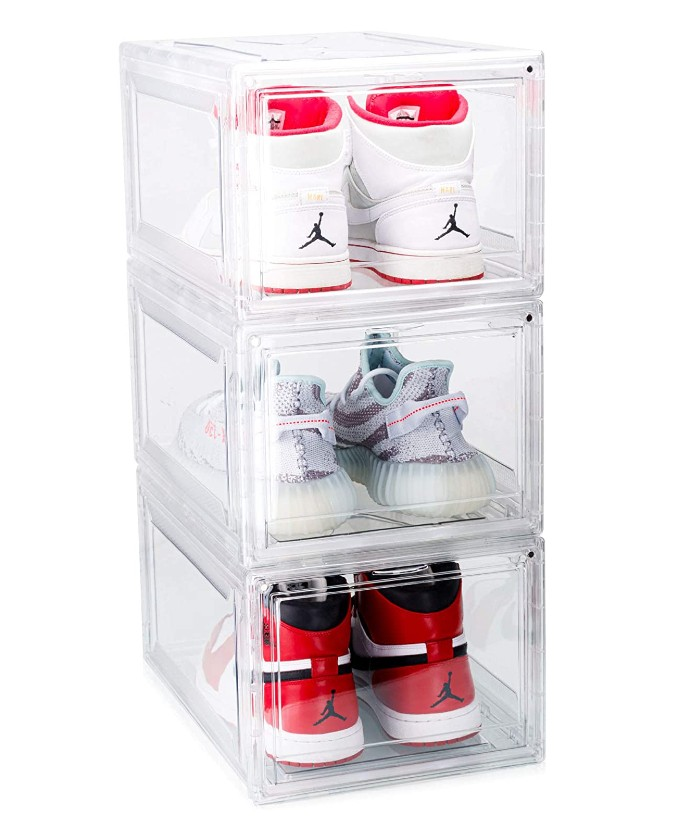 mint supply drop front shoe boxes