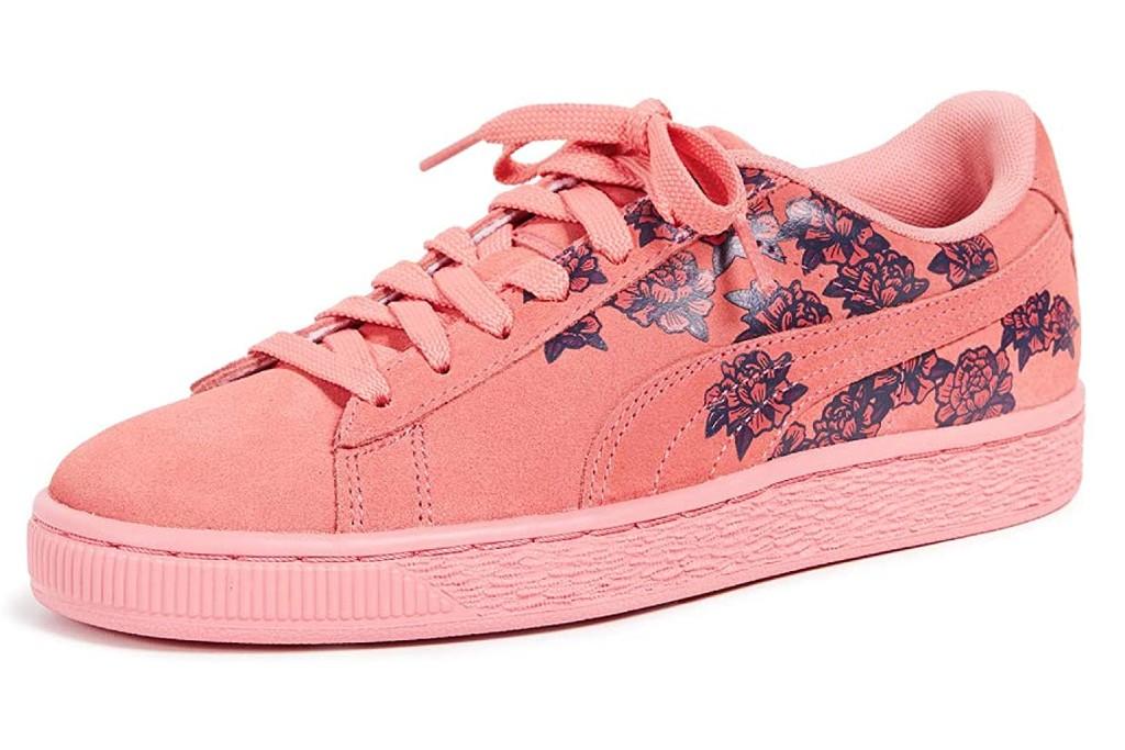 Puma Basket Suede Floral Sneaker, floral sneakers