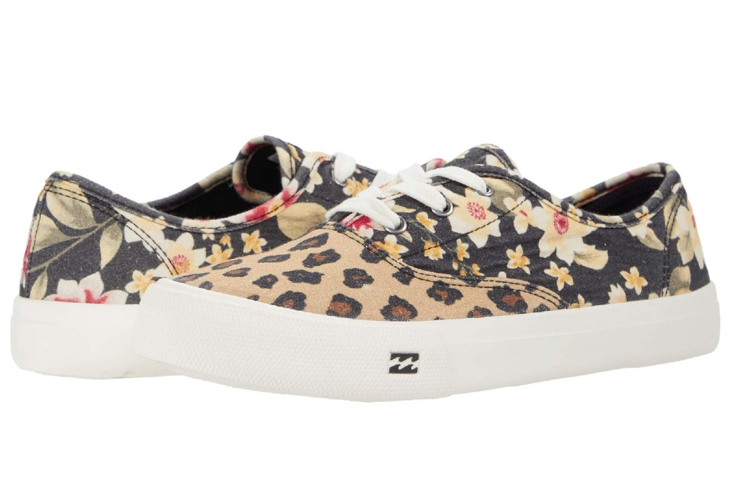 floral sneakers, Billabong Seascape Daze