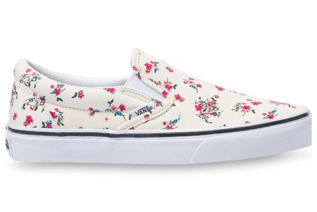 vans ditsy floral classic slip on, floral sneakers