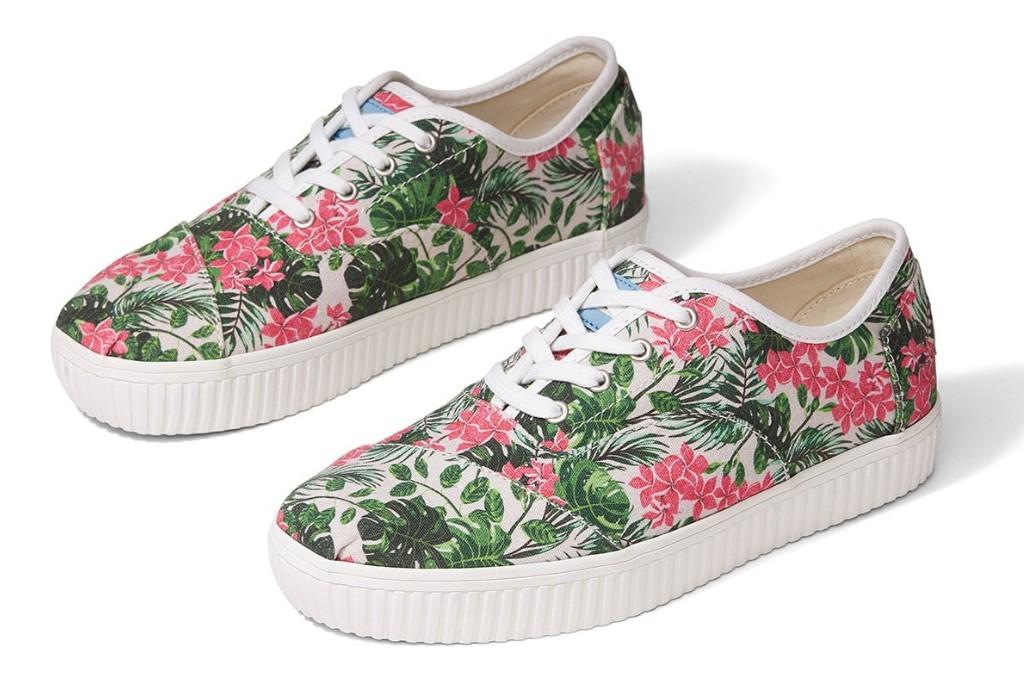 Toms Cordones Indio Floral Sneaker, floral sneakers