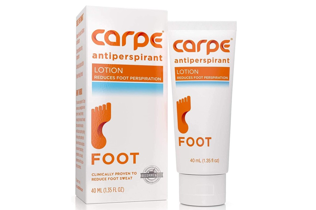 Carpe Antiperspirant Foot Lotion, products to combat sweaty feet