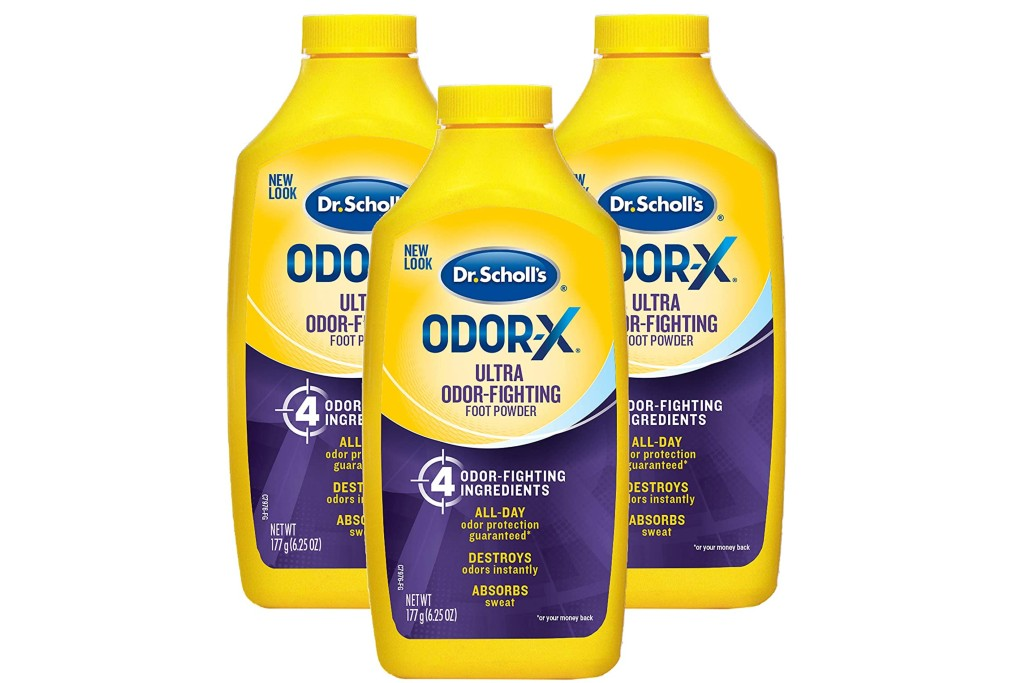 Dr. Scholl's Odor-Fighting X Foot Powder, products to help combat sweaty feet