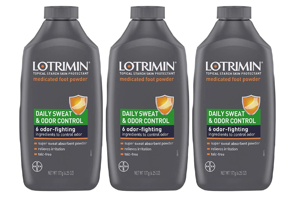 Lotrimin Daily Sweat & Odor Control Medicated Foot Powder, Products to Help Combat Sweaty Feet