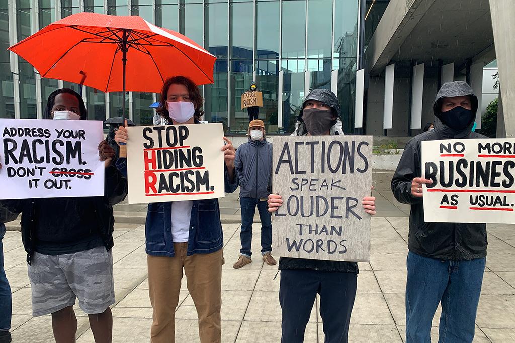 Adidas employee protest