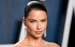 adriana lima, style, dress, earrings, celebrity