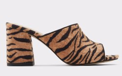 aldo, tiger print heels