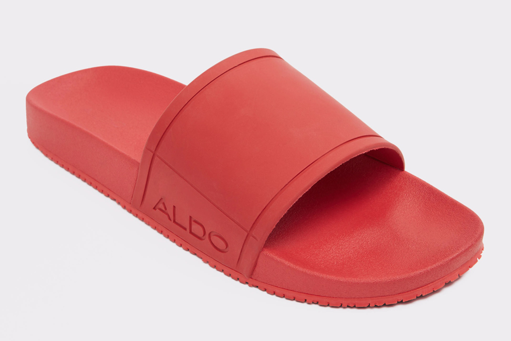 aldo, slides, red