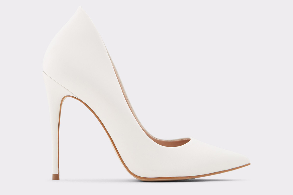 aldo, white pumps