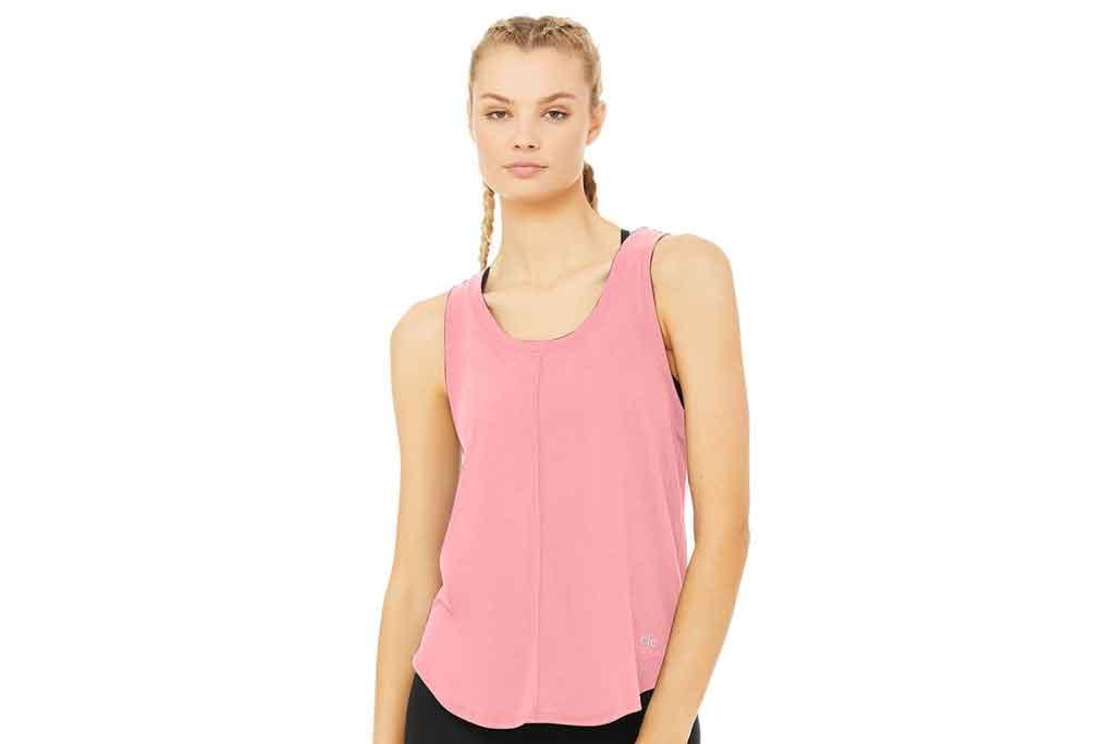 Alo Yoga, pink tank top