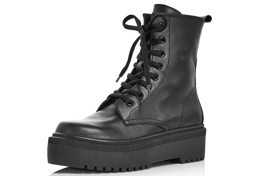 Aqua, combat boots, bloomingdales