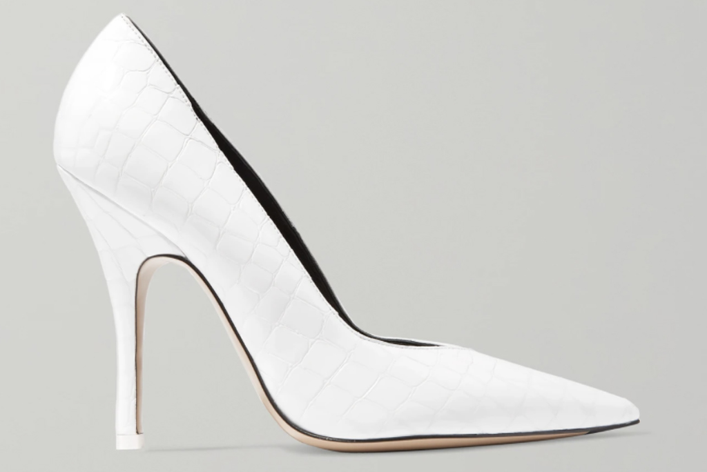 the attico, white pumps