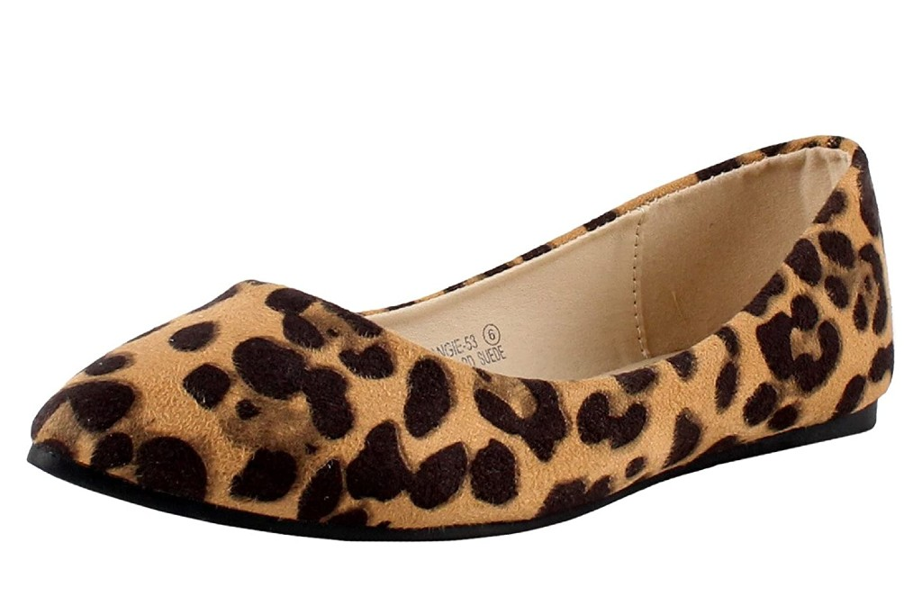 Bella Marie Angie-53 pointy leopard ballet flats