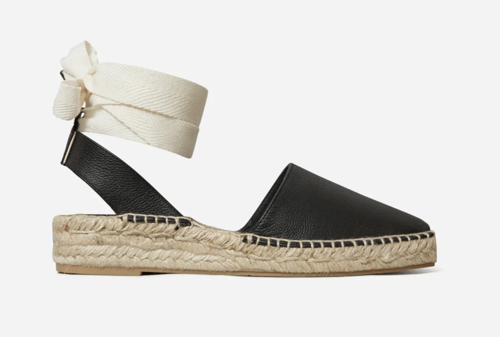 Everlane espadrilles, best everland shoes, black espadrille sandals