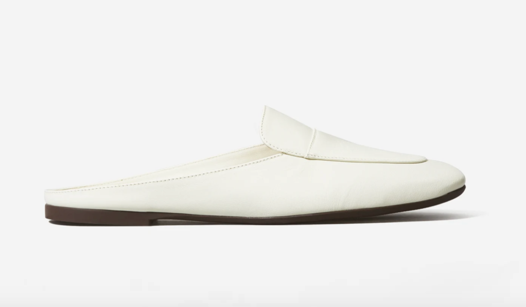 everlane loafers, best everlane shoes, white slip on shoes