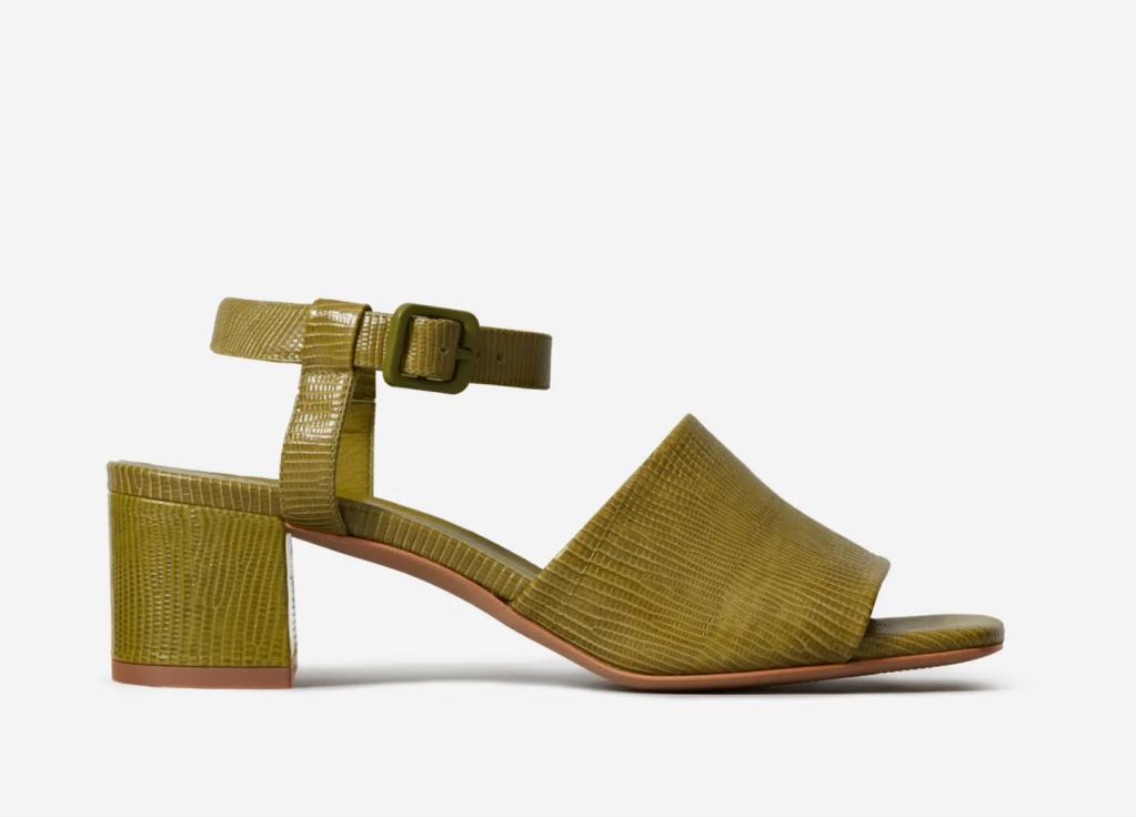 Everlane block heel, best everlane sheos, croc heels